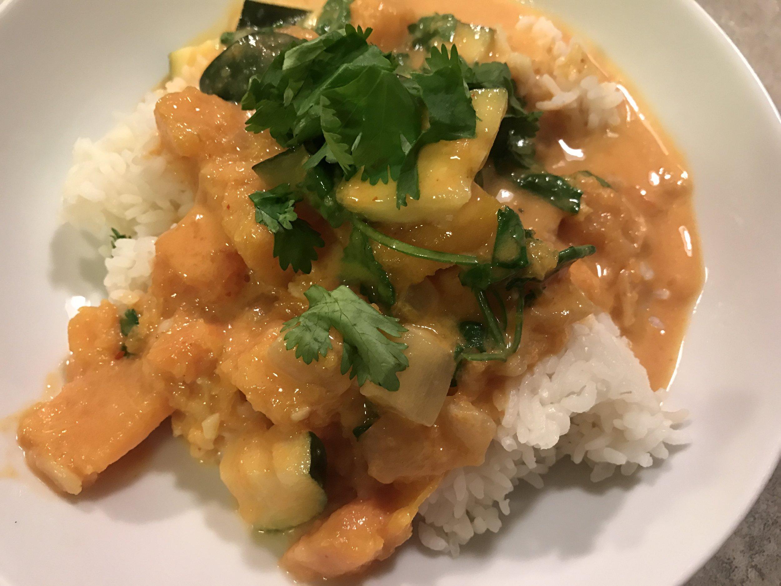 delicious squash curry