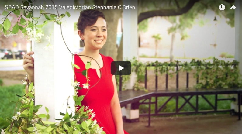 SCAD Savannah 2015 Valedictorian Stephanie O'Brien - Video by: The Savannah College of Art and DesignB.F.A. jewelry and objects alumna Stephanie O'Brien is the SCAD Savannah class of 2015 valedictorian