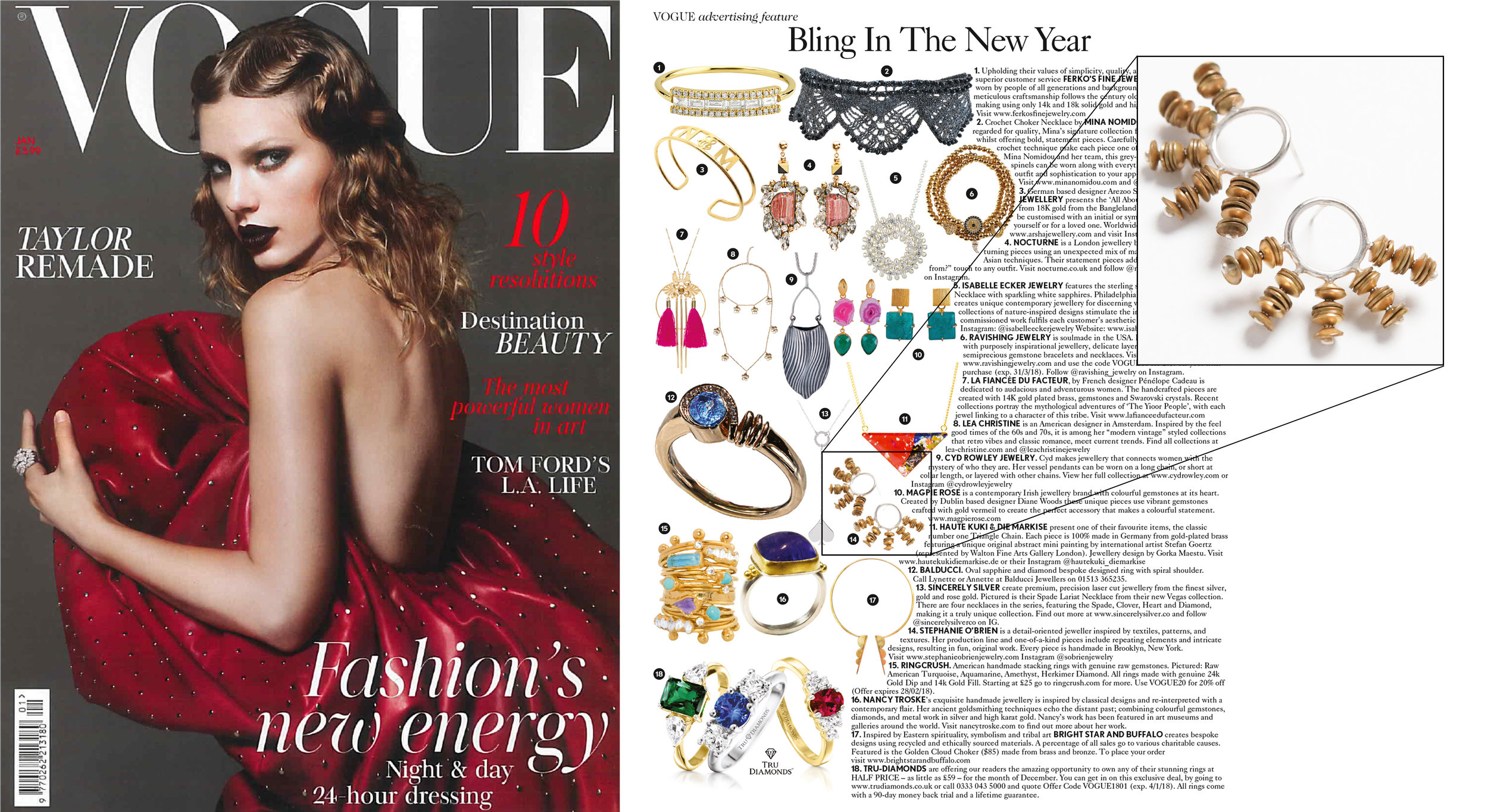 British Vogue  Bling In The New Year,January 2018