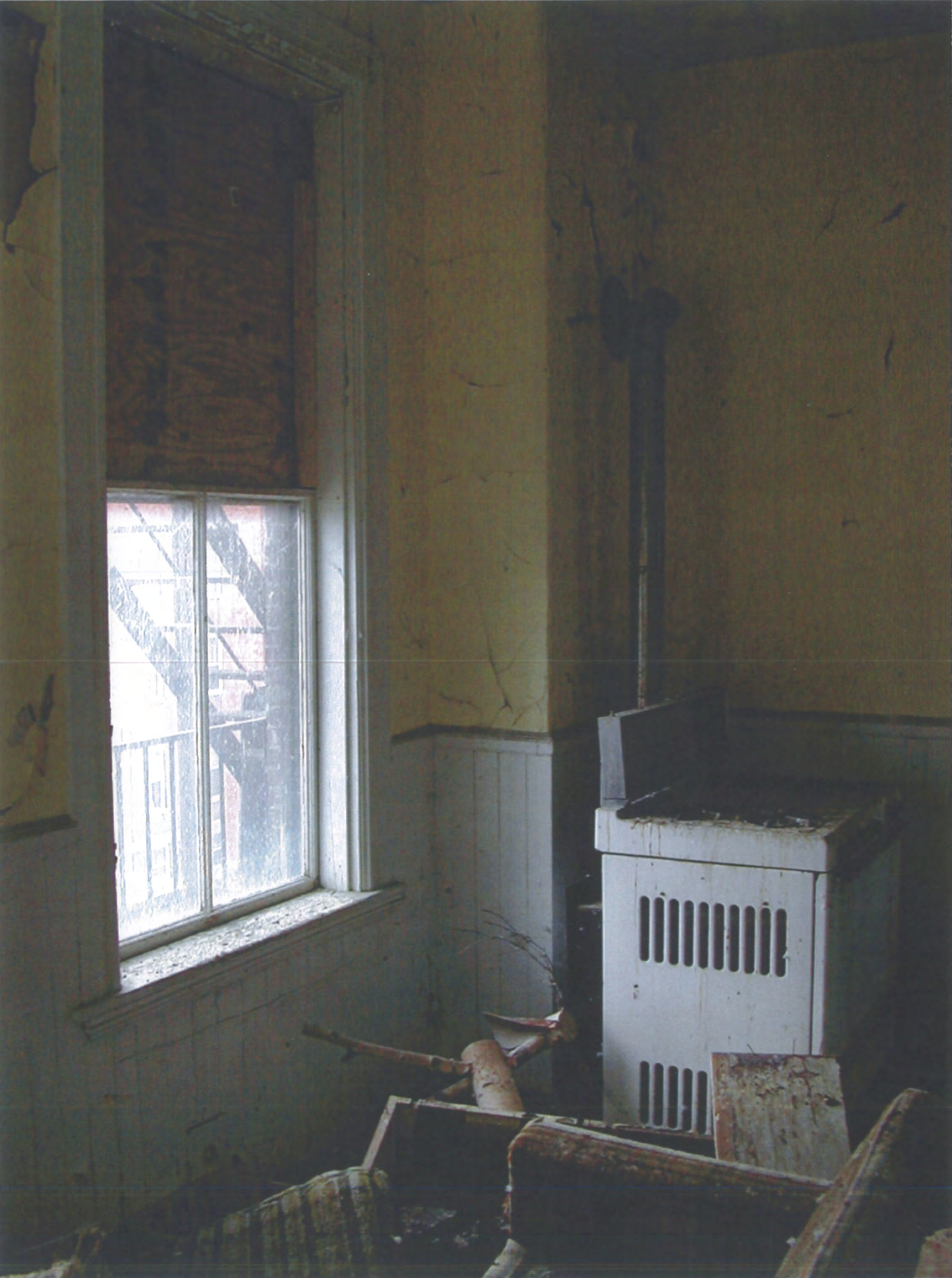 Many years of paint and wallpaper were removed during the restoration.