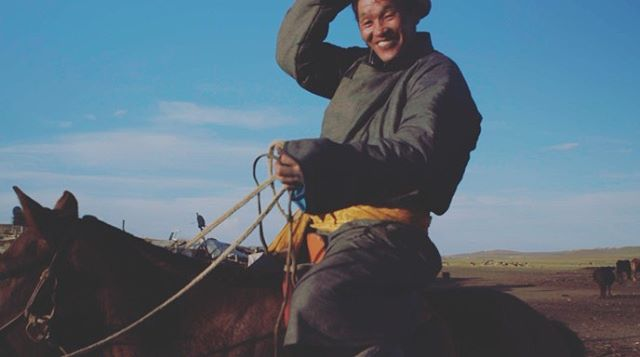 Screen grab of a herder from our shoot today. . . . . . . . #Mongolia #economicdevelopment #internationaldevelopment #c300markii