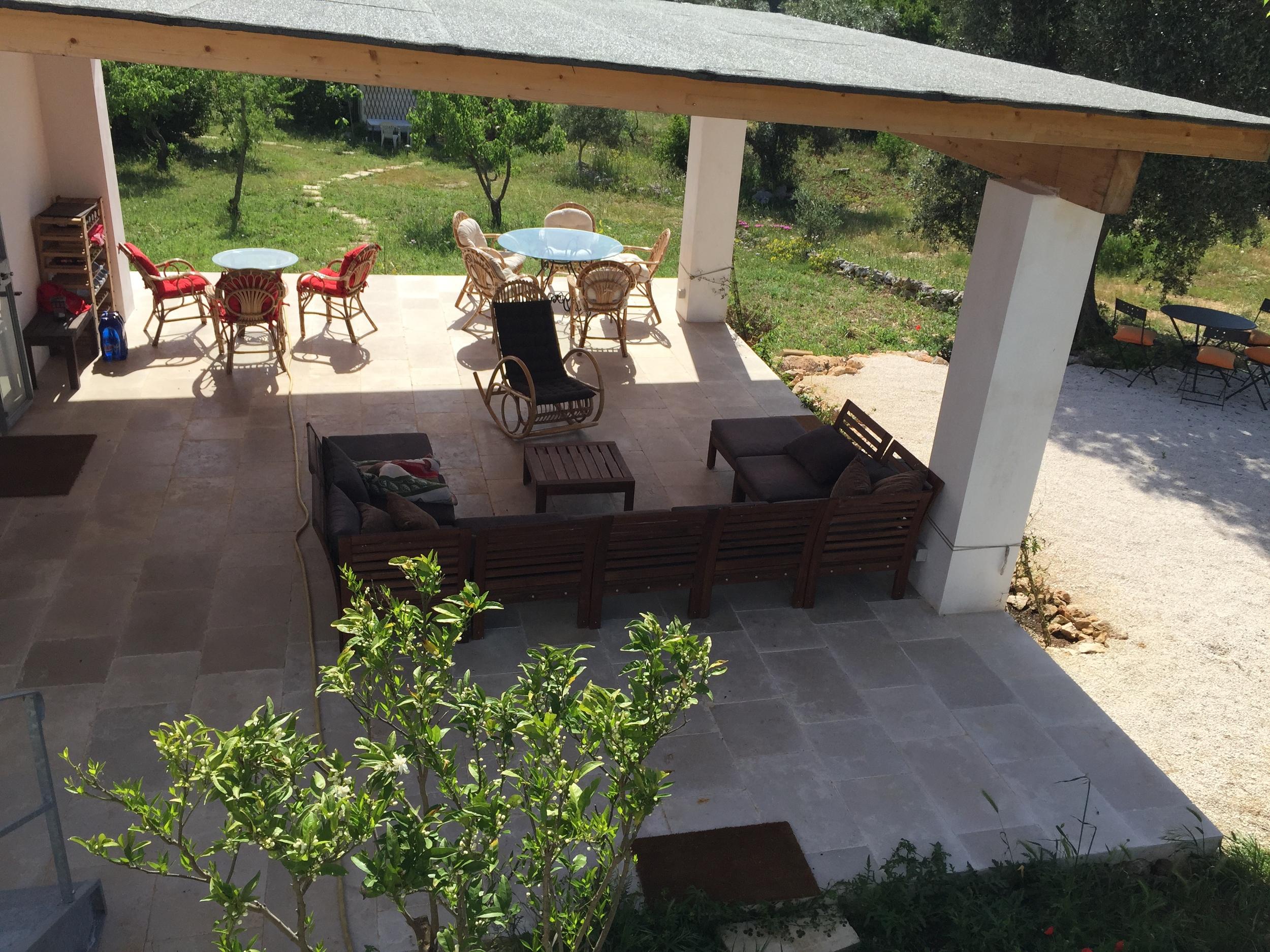 the covered veranda