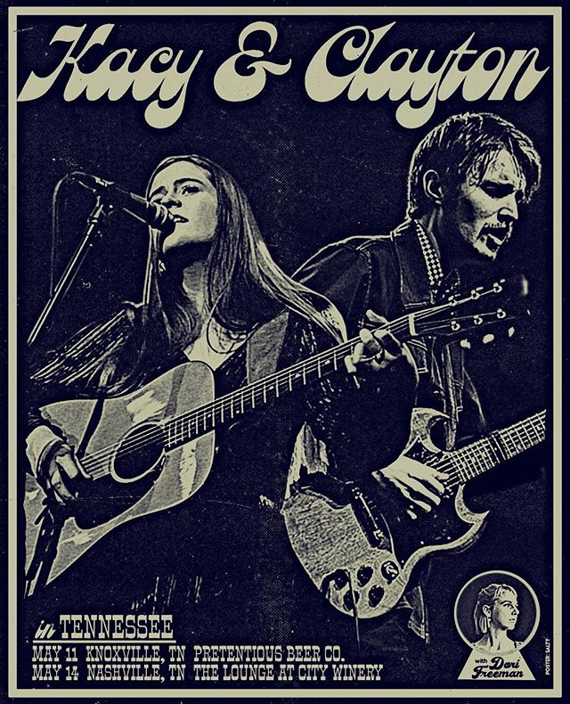 Knoxville! Nashville! @dorifreeman!  See you in under a month We're bringing 3 guitars  Poster made by the great @t_salty!