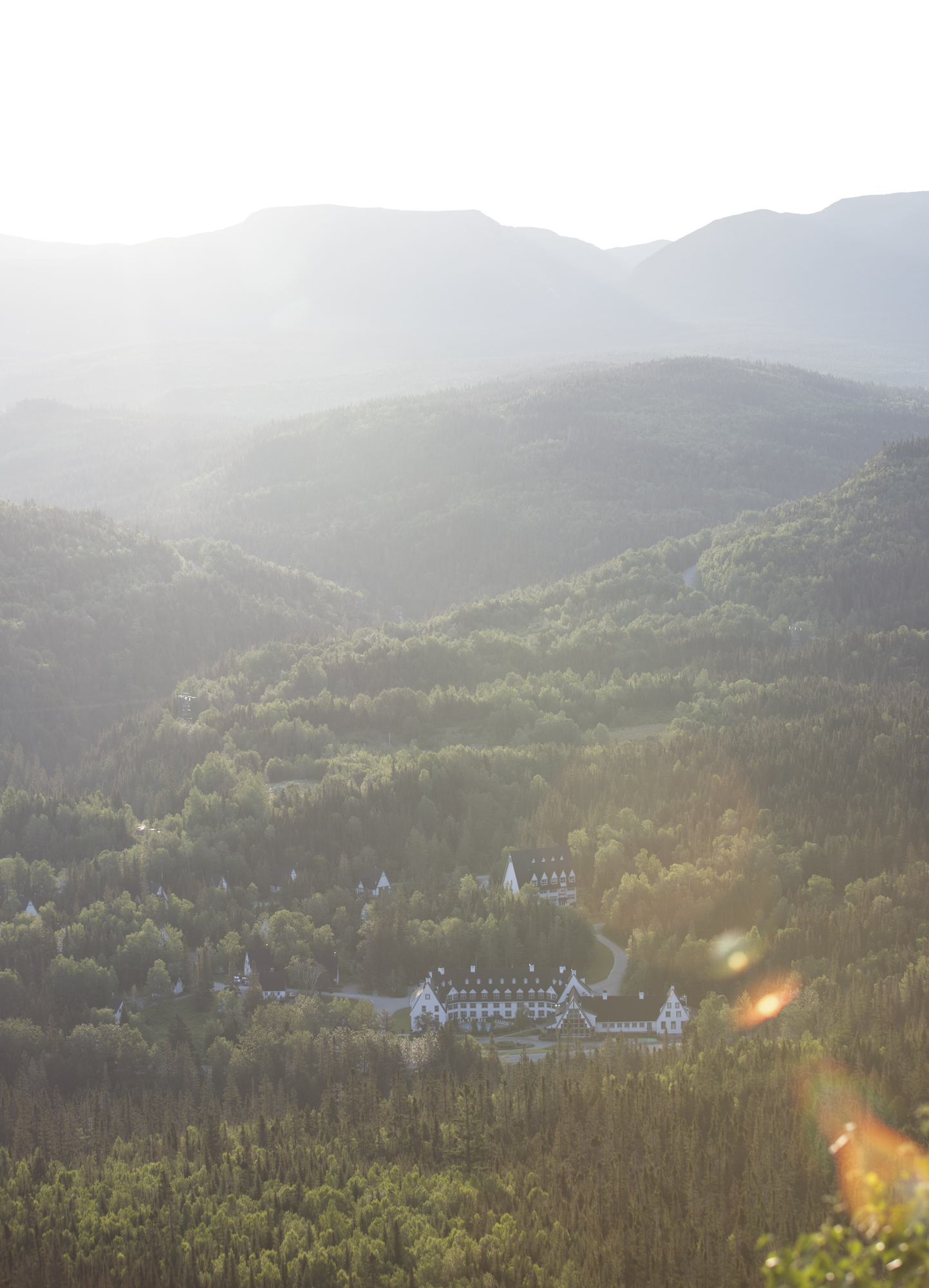View of the Gîte, from the first view point, during sunrise.