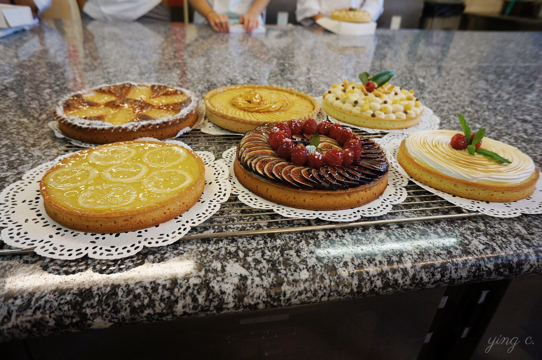 圖1. 我在學校上課時,第一二週便是集中在塔類甜點的練習。(攝影:Ying Chen)