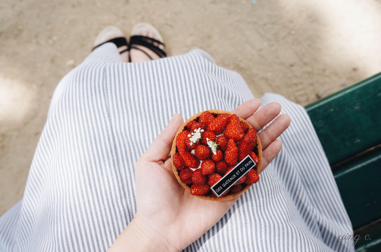 "The ""Fragaria Vesca"" wild strawberry tart.  Fragaria Vesca 野莓塔。"