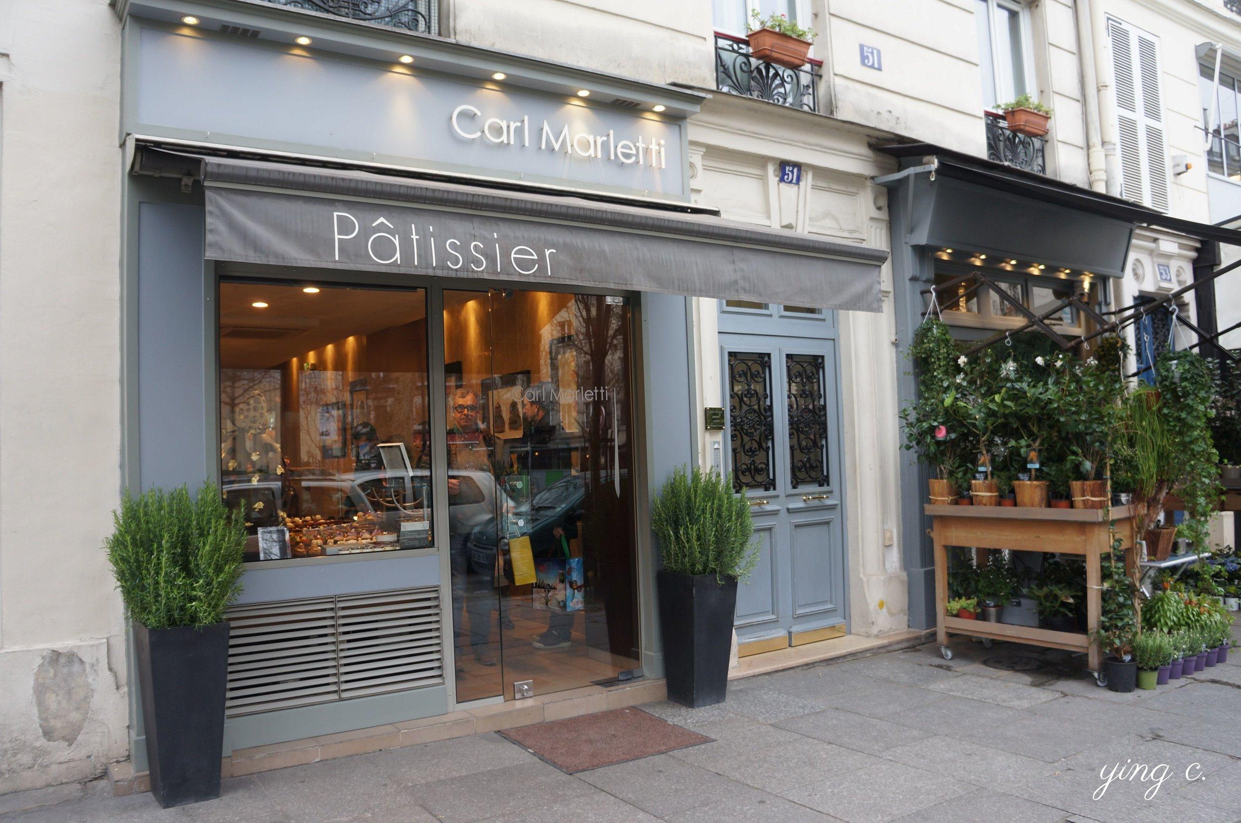 圖1:以甜點師本人為名的甜點店在巴黎不在少數。圖為位於巴黎五區的甜點店 Carl Marletti。