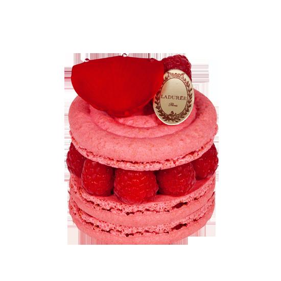 圖5:Pierre Hermé 在 Ladurée 創作出的 Ispahan 馬卡龍蛋糕,至今仍是 Ladurée 的經典甜點。(圖片來源: Ladurée )