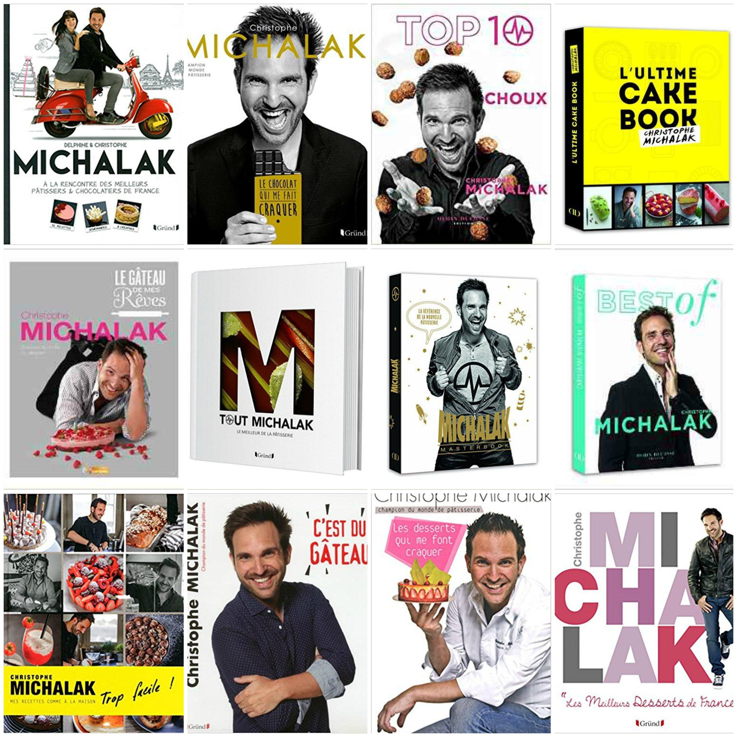 圖2. 幾本 Michalak 食譜書封面(圖片來源: Amazon.fr )