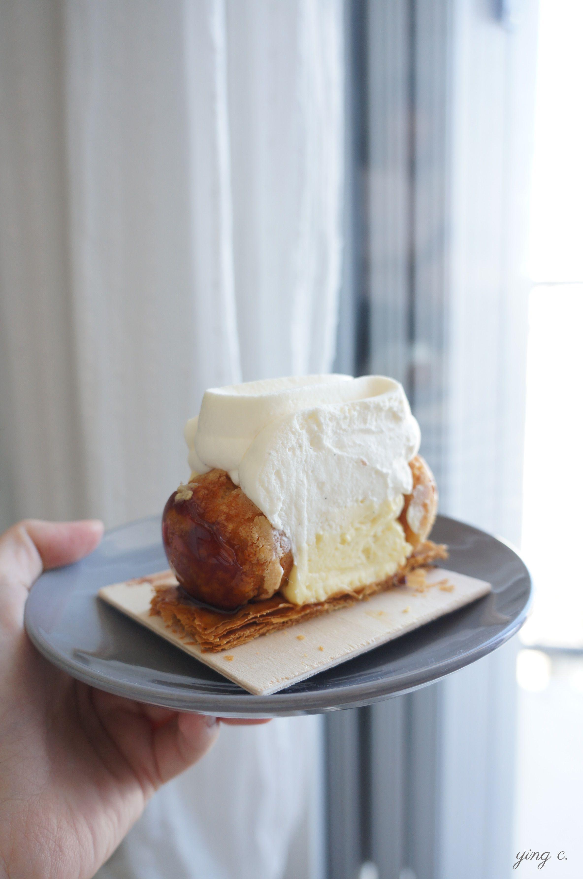 Jean-François Foucher主廚今年九月在Fou de Pâtisserie甜點店合作販售的Saint-Honoré聖多諾黑泡芙塔,是他的招牌作品。