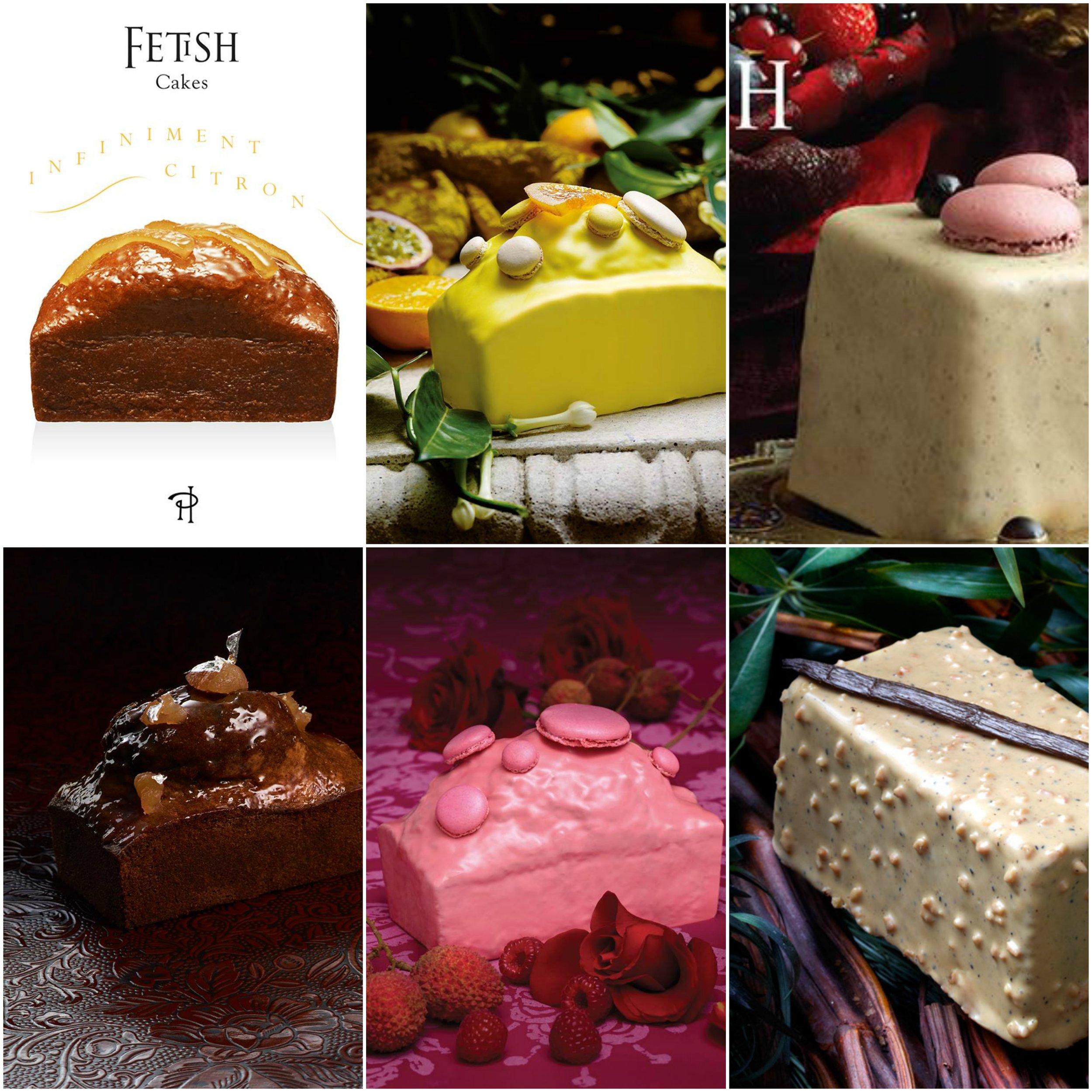 Pierre Hermé  的各種磅蛋糕。不是以淋醬完全包裹、就是在頂端也刷上鏡面果膠。 Photo|Facebook,  Pierre Hermé Paris