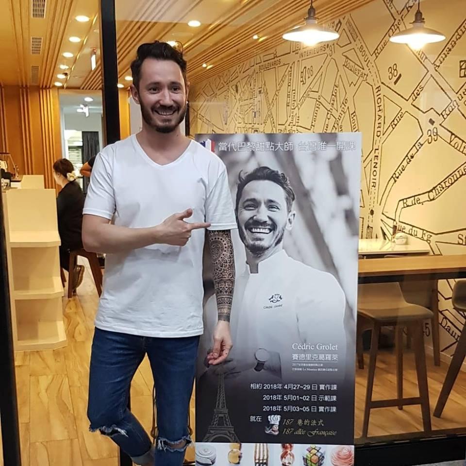 去年五月首次來到台灣舉辦大師課的Cédric Grolet主廚。(圖片來源: 187巷的法式 烘焙/料理 /烹飪教室 )