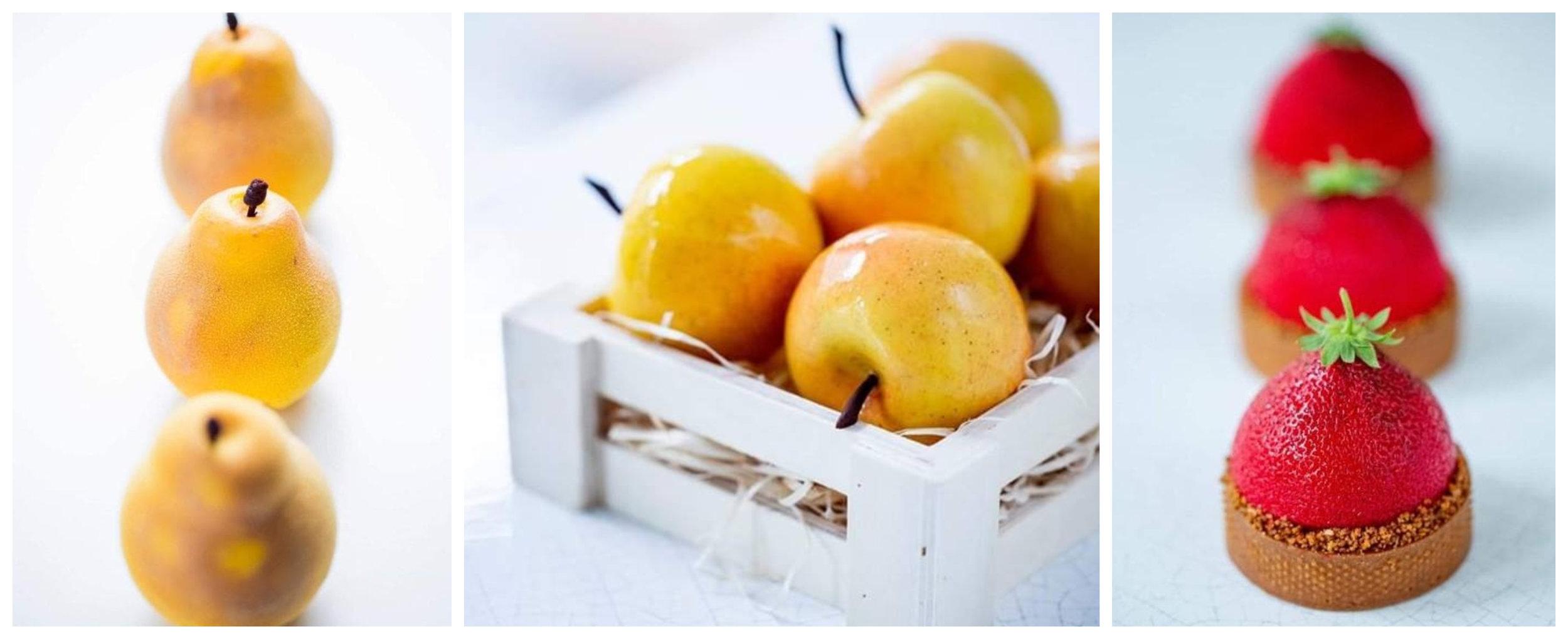Cédric巧奪天工的水果雕塑,本次187巷的實作課中將由主廚本人親自傳授製作秘訣。(圖片來源: 187巷的法式 烘焙/料理 /烹飪教室 )