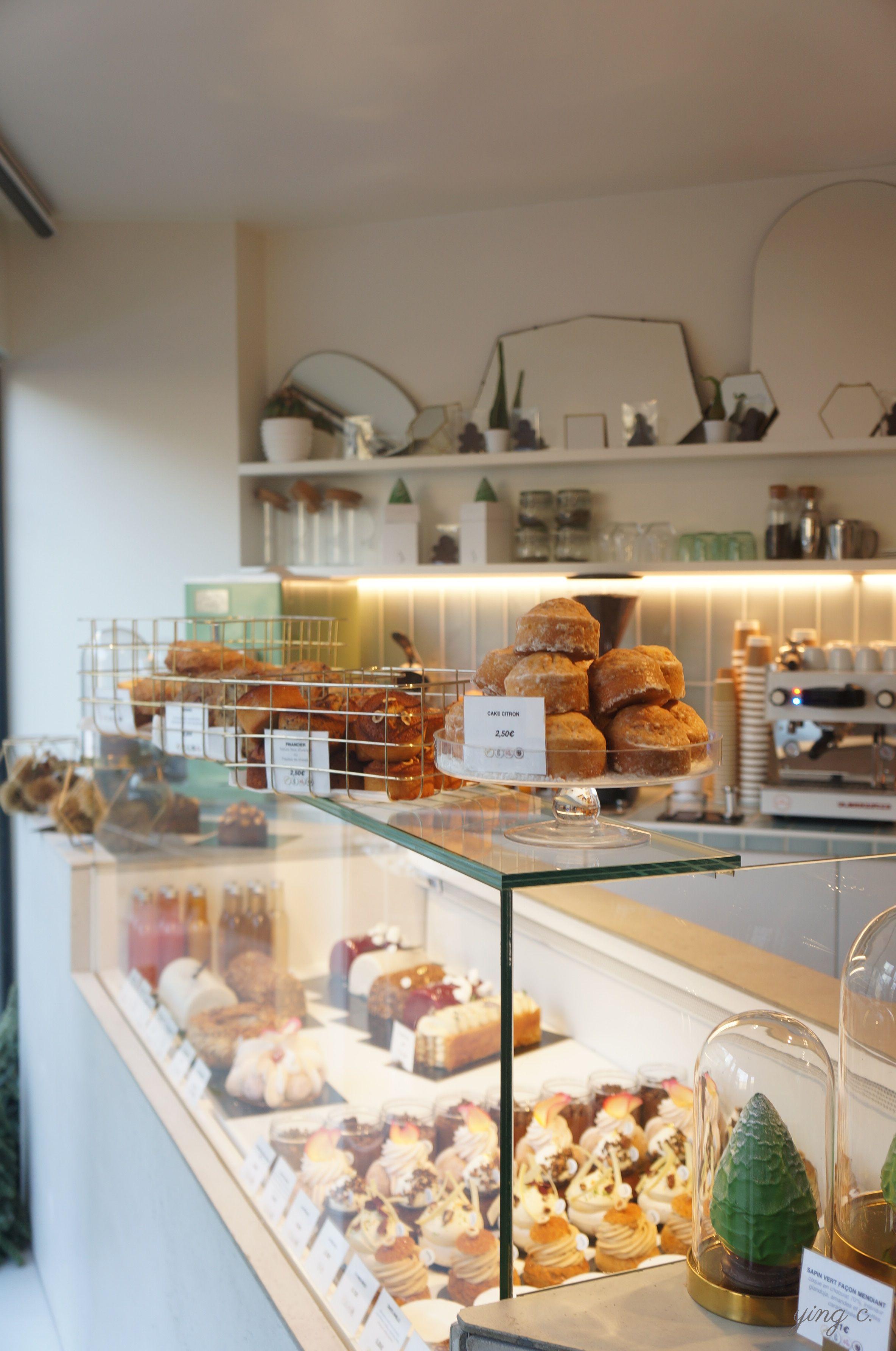 The pastry vitrine.
