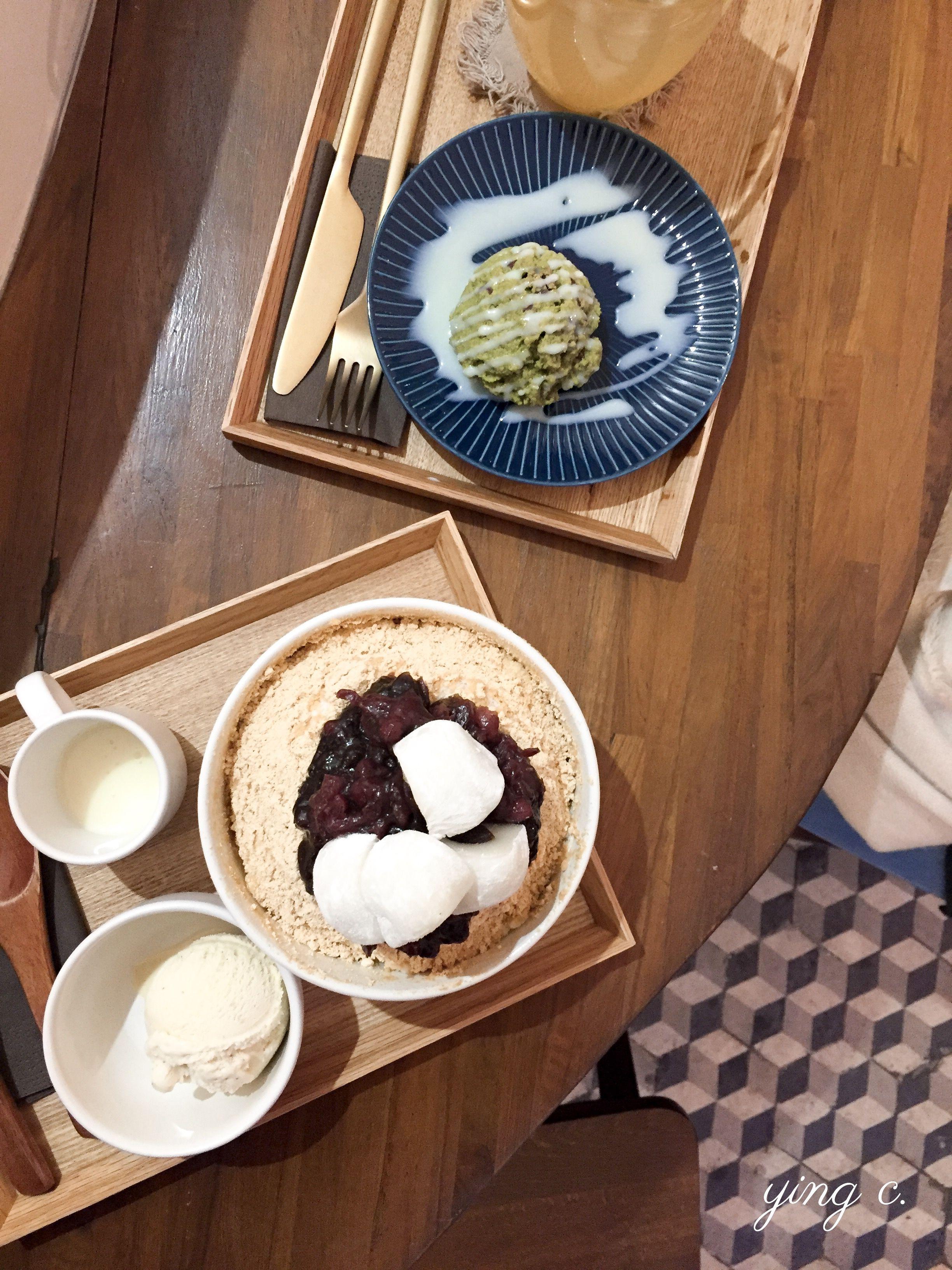 巴黎第一家韓國咖啡店+82PARIS,其刨冰(bingsu)全年都吃得到,但隨著季節變化推出不同口味。