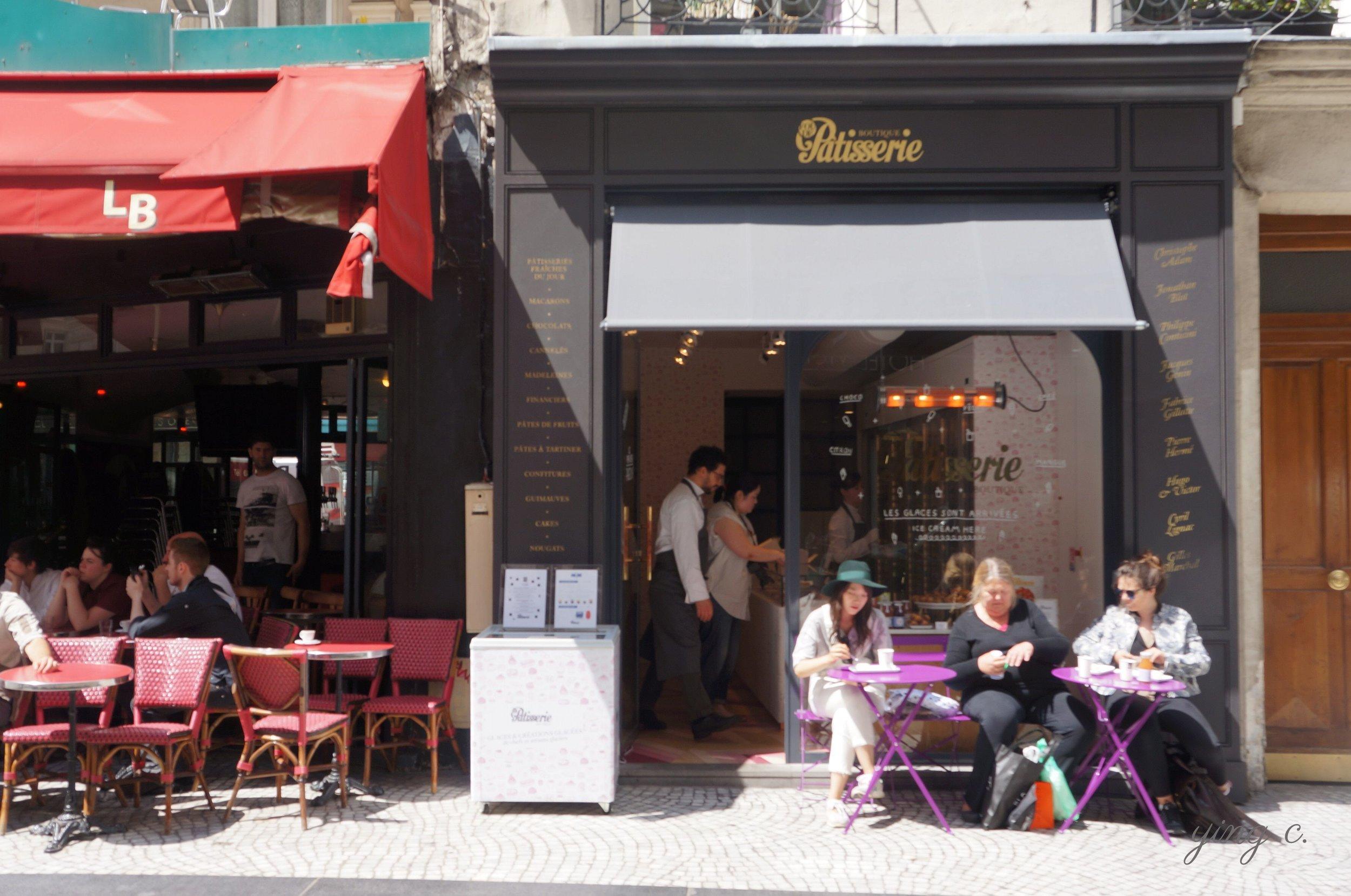 Fou de Pâtisserie 的第一家店面,位於巴黎二區知名的 Rue Montorgueil 上。