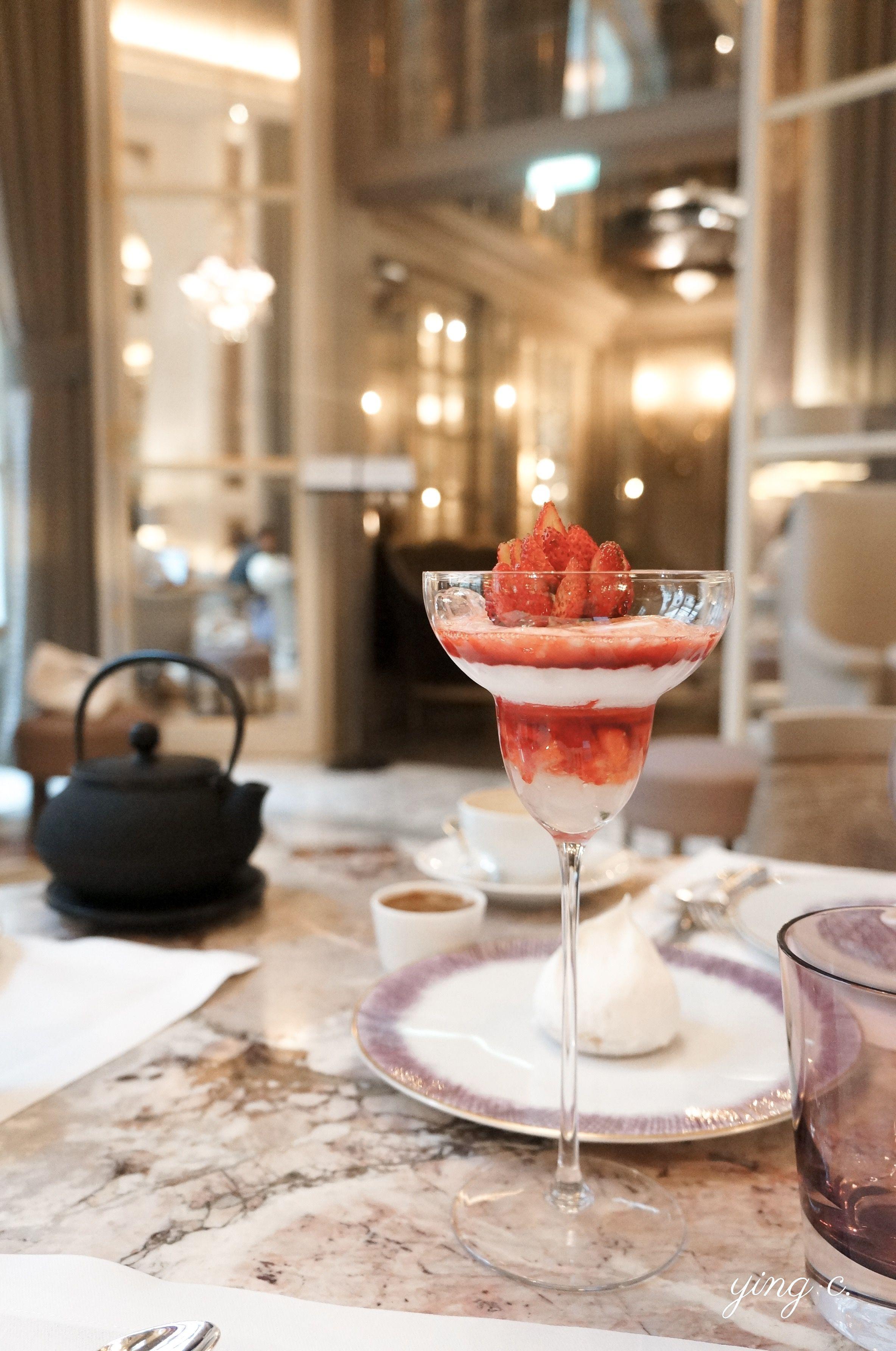 紅艷優雅的「草莓梅爾芭與蘆薈」( Melba Fraises des Bois et Aloe Vera )。