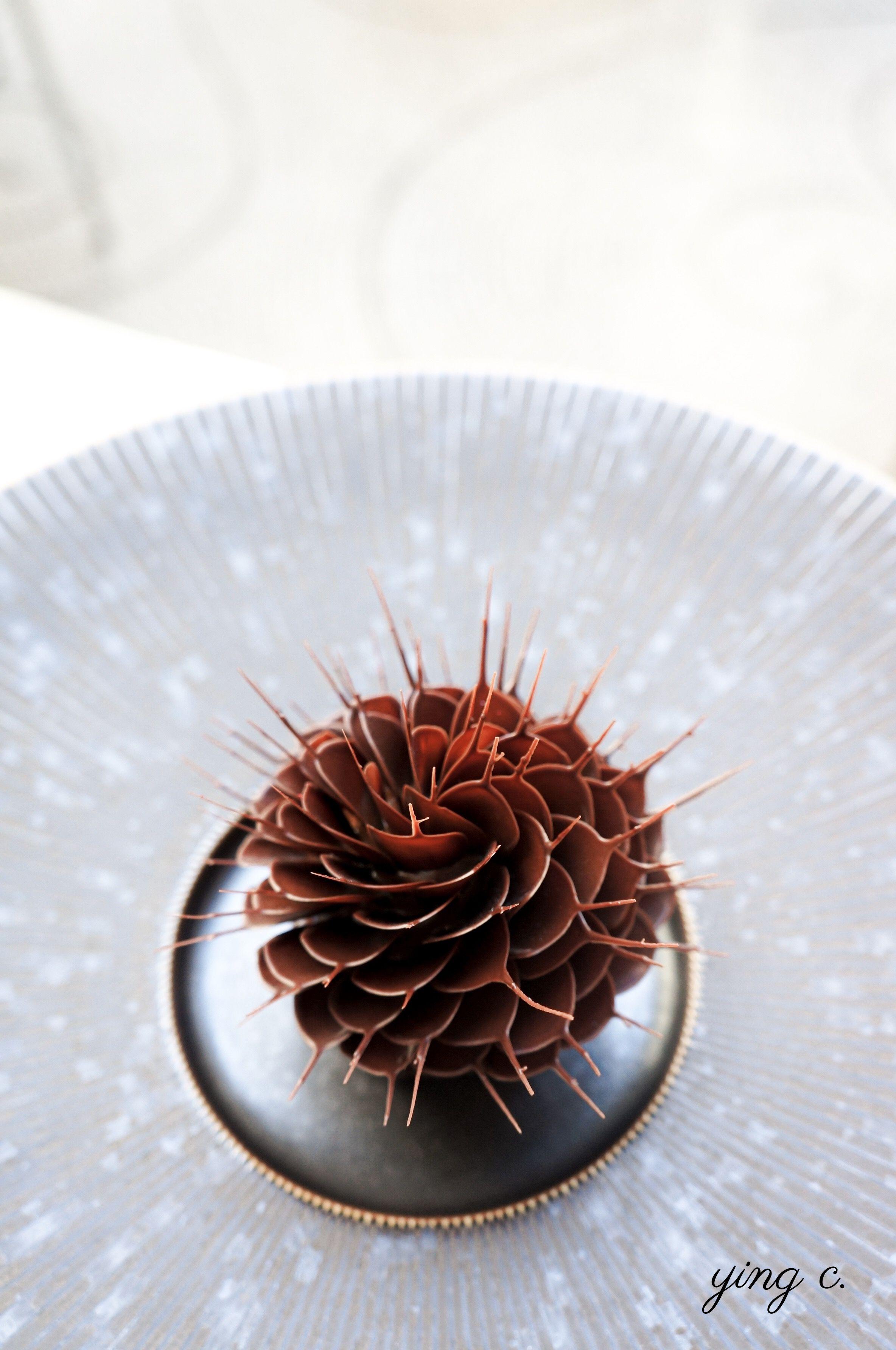 Maxime 為 2019 年 Taste of Paris 巴黎美食展設計的「 Fleur de Cacao 」(可可之花)。