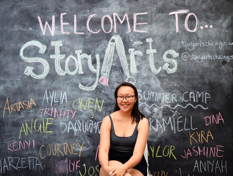 Podcast Teaching Artist - Rachel Kim taught StoryArts podcast curriculum material in 2017.