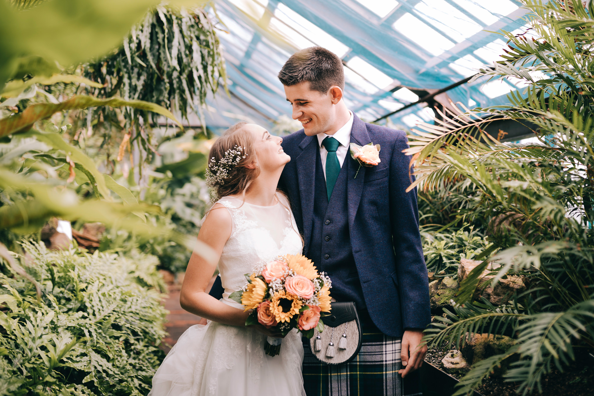 glasgow botanic gardens wedding photographer