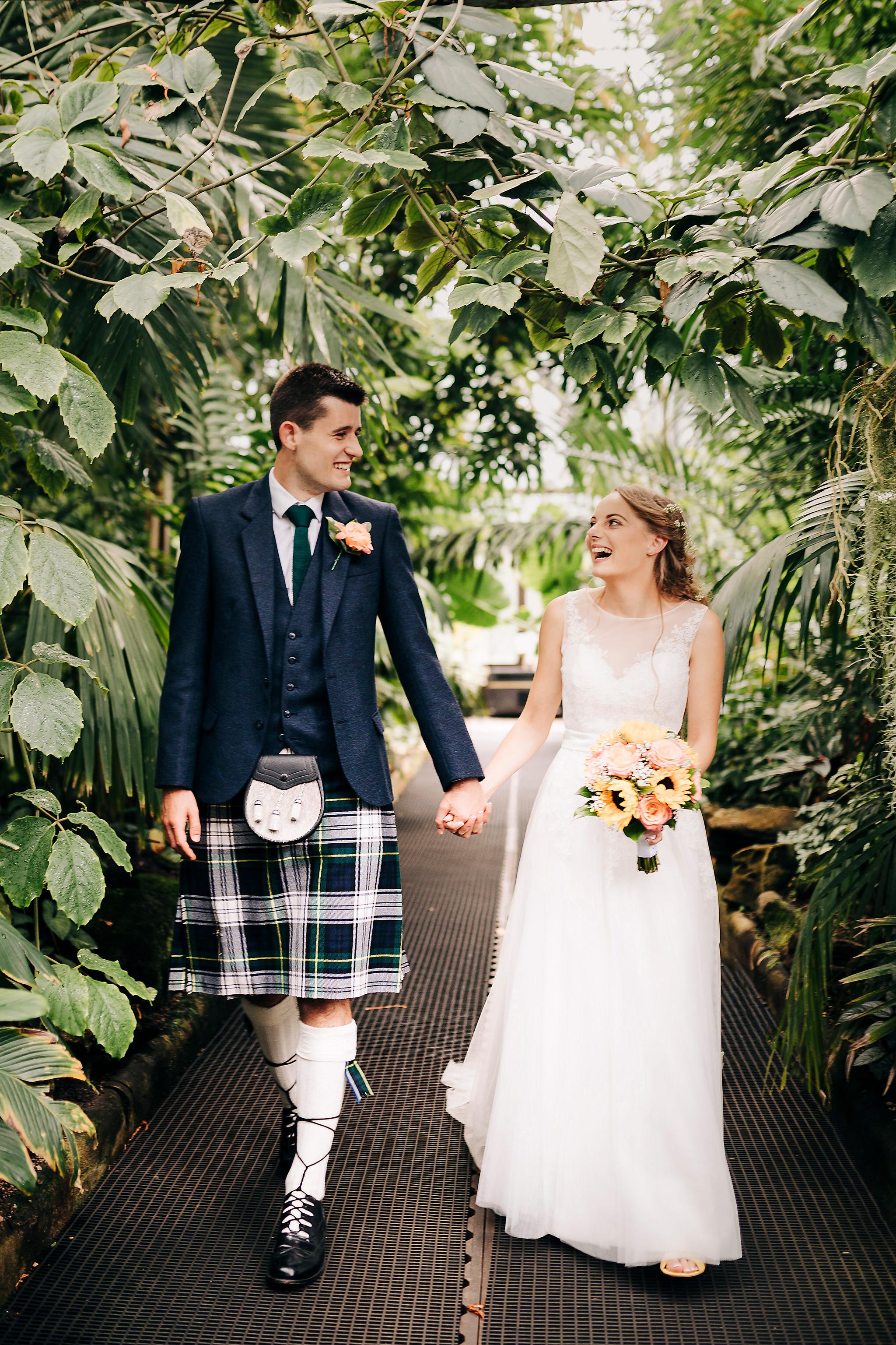 glasgow botanic gardens wedding photographer