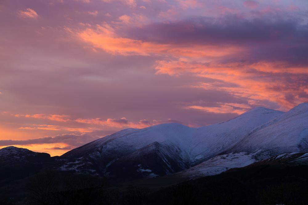 Rare Lake District sunset.