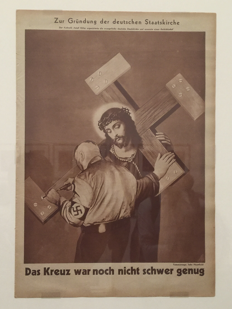John Heartfield  The Cross Was Not Heavy Enough 1933   The year this was made and published was the year Hitler rose to power. The conviction and bravery required to sign his own death warrant by making these works is astonishing.