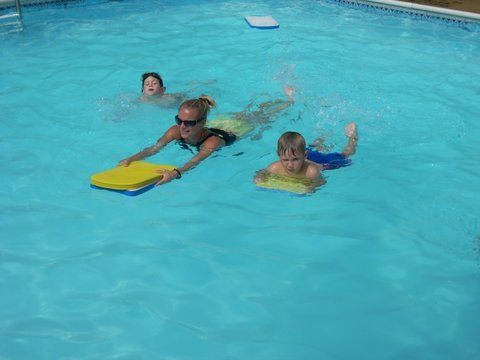 Each of the three swimming pools is run by a full instuctional swim program