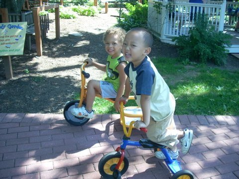 riding trikes