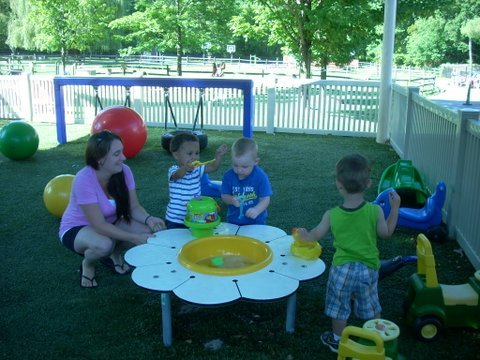The toddler playground allows for great exploration for the toddlers