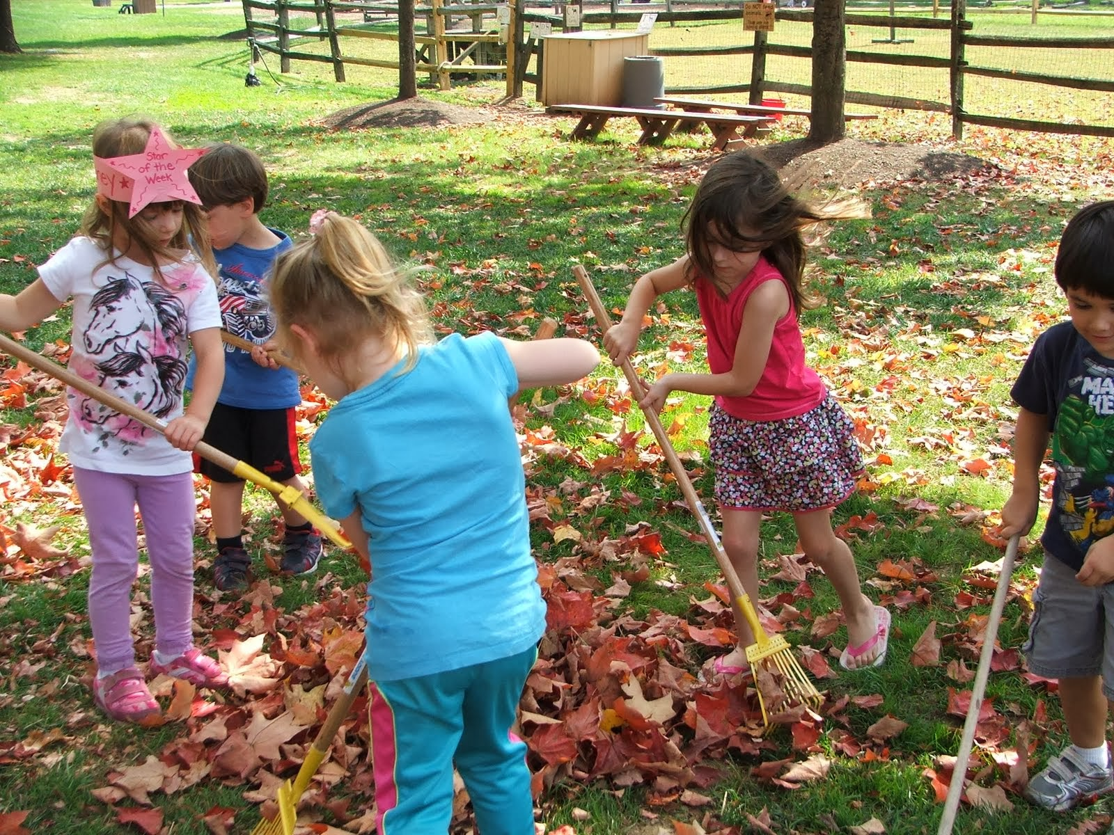 Fall at the preschool on a Farm