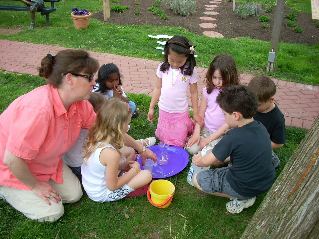 Kindergartners learning through exploration