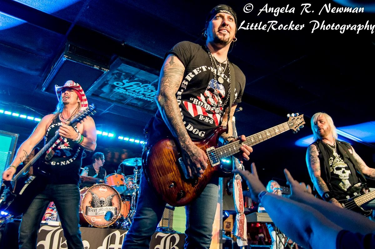 Brandon with the Bret Michaels Band