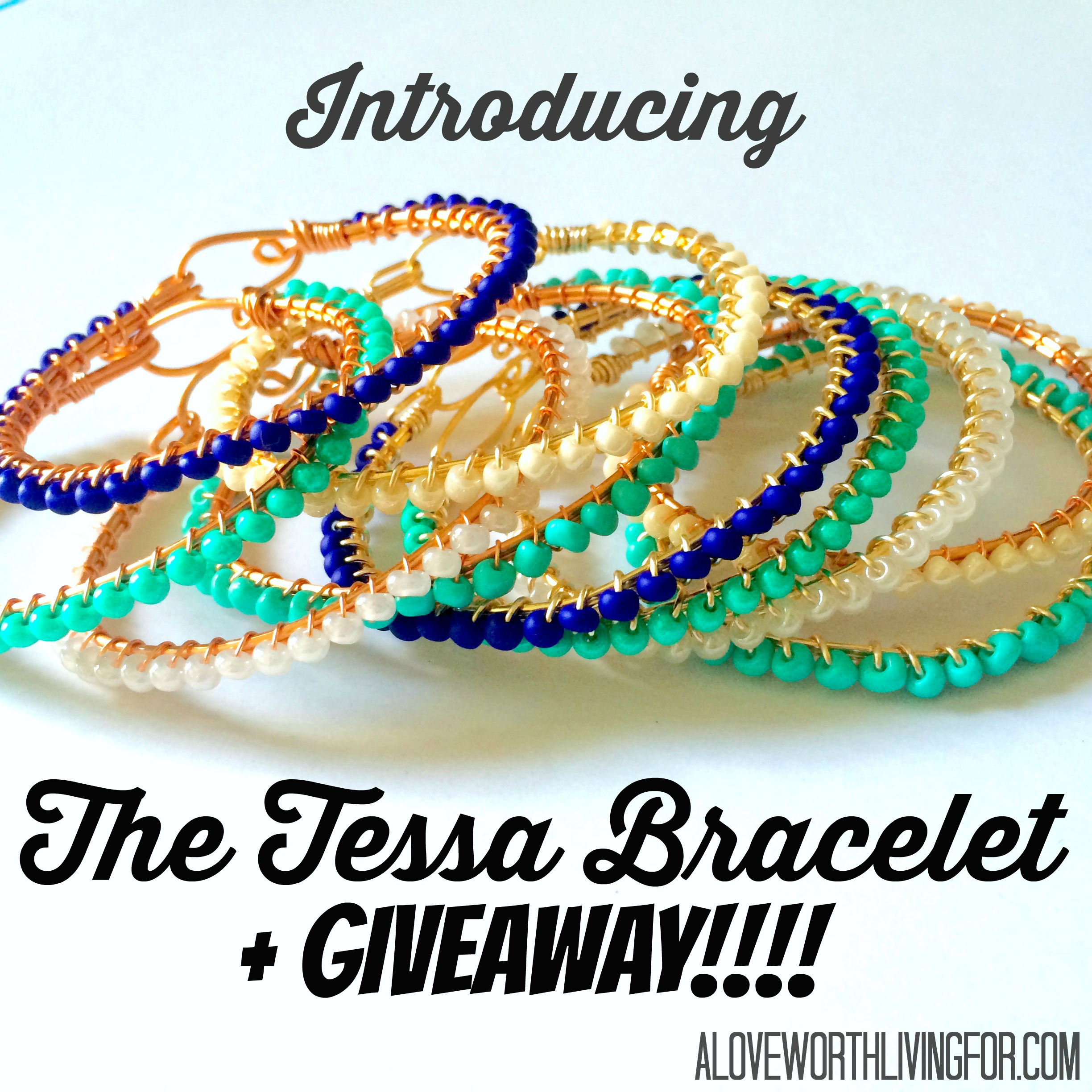 Introducing one our newest jewelry lines: The Tessa Bracelet! A showcase of our newest bracelet line PLUS a giveaway!! by A Love Worth Living For