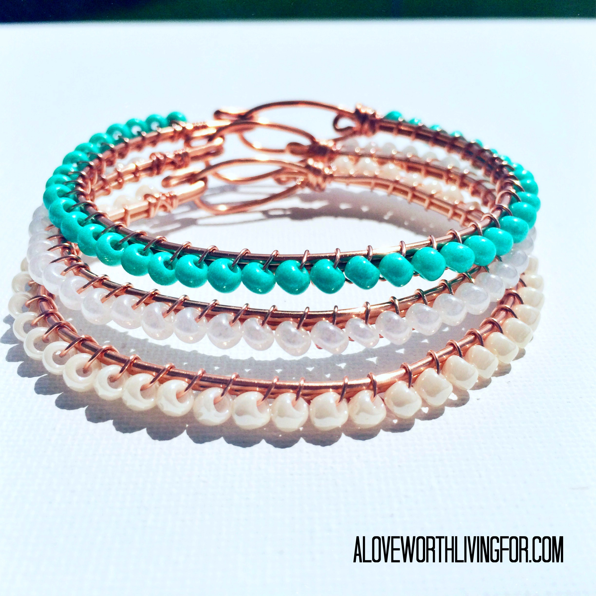 ALWLF's The Tessa Bracelet in the original three colors by A Love Worth Living For