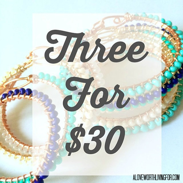 Introducing The Tessa Bracelet by A Love Worth Living For - New! Buy Three for $30!!