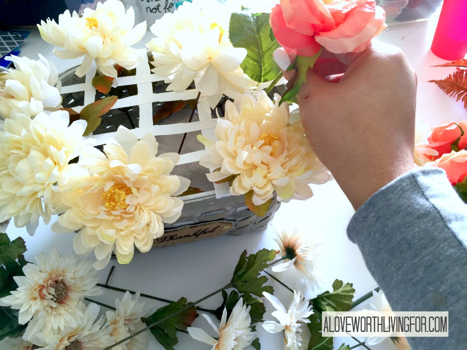 Easy Floral Fall Center Piece DIY by A Love Worth Loving For 007.jpg