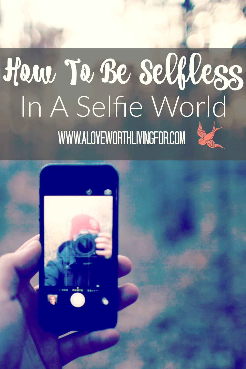 Selfie is literally in the dictionary. It's a word that also defines a generation. How do you live selflessly in a world that's obsessed with selfie? Here's what scripture says.