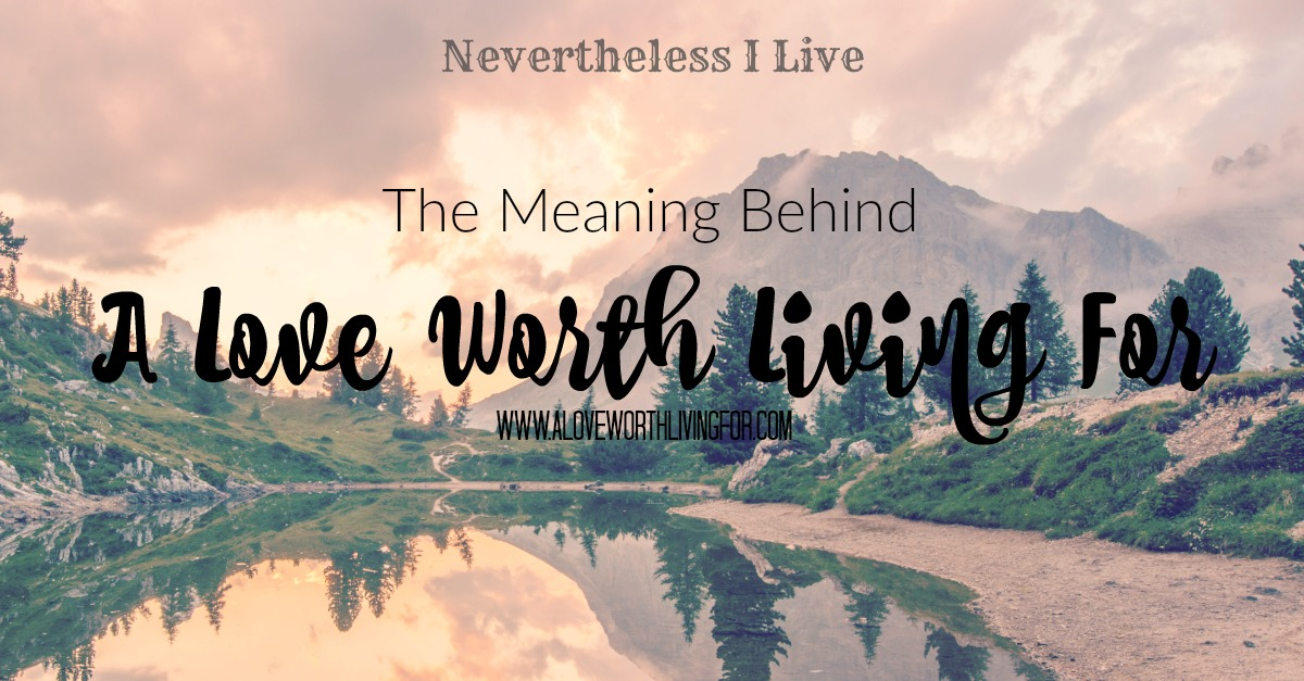 A Love Worth Living For is a dream that had grew in my heart for years. Now it is real Blog and growing and thriving community. Here is the meaning and heart behind A Love Worth Living For!