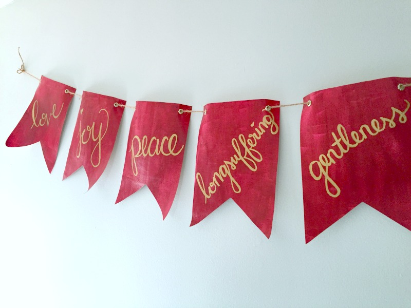 I wanted some Fruit of the Spirit art in my home & finally created a project I love. This Fruit of the Spirit craft is easy to make & also chic and decorative! Here's how to make this lovely scripture art!