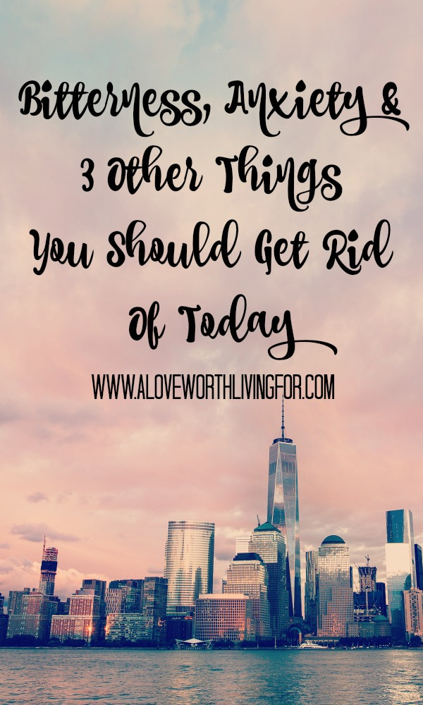 We carry things that we don't have too. We hold on to things that only hurt us. Here are five nasty things that you NEED to get rid of today!