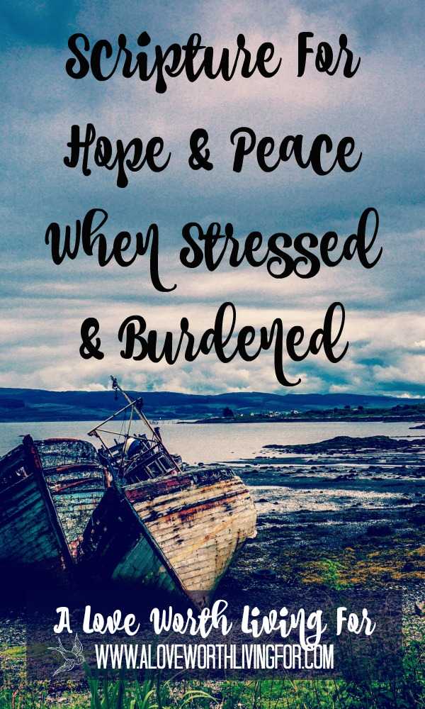These verses are amazing. When you are stressed and burdened, these verses will help you cast those heavy things off and find hope and peace in God.