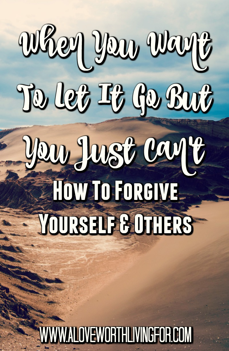 You are called to live free but how can you do that when you can't seem to forgive yourself or others? Here's how to forgive other and yourself. These verse will help you forgive, let it go and live free.