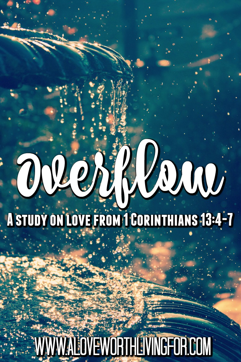 God told us to love other the way that He has loved us. So why is it so hard to go out and do that? We are missing one huge and crucial key. To love other well, you have to be receiving the constant stream of God's love for you & then overflow will be inevitable.