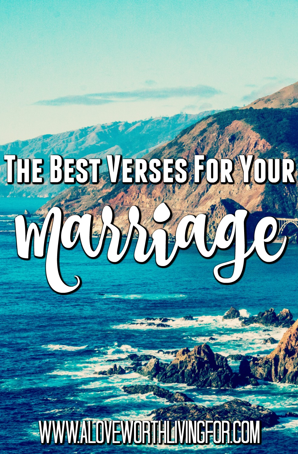 I know marriage isn't always easy, but we always have a very present source of help. We all want marriages that are healthy and full of love and respect. Marriages like that can change the culture and inspire awe in the hearts of on lookers. Here are my favorite verses for marriage.