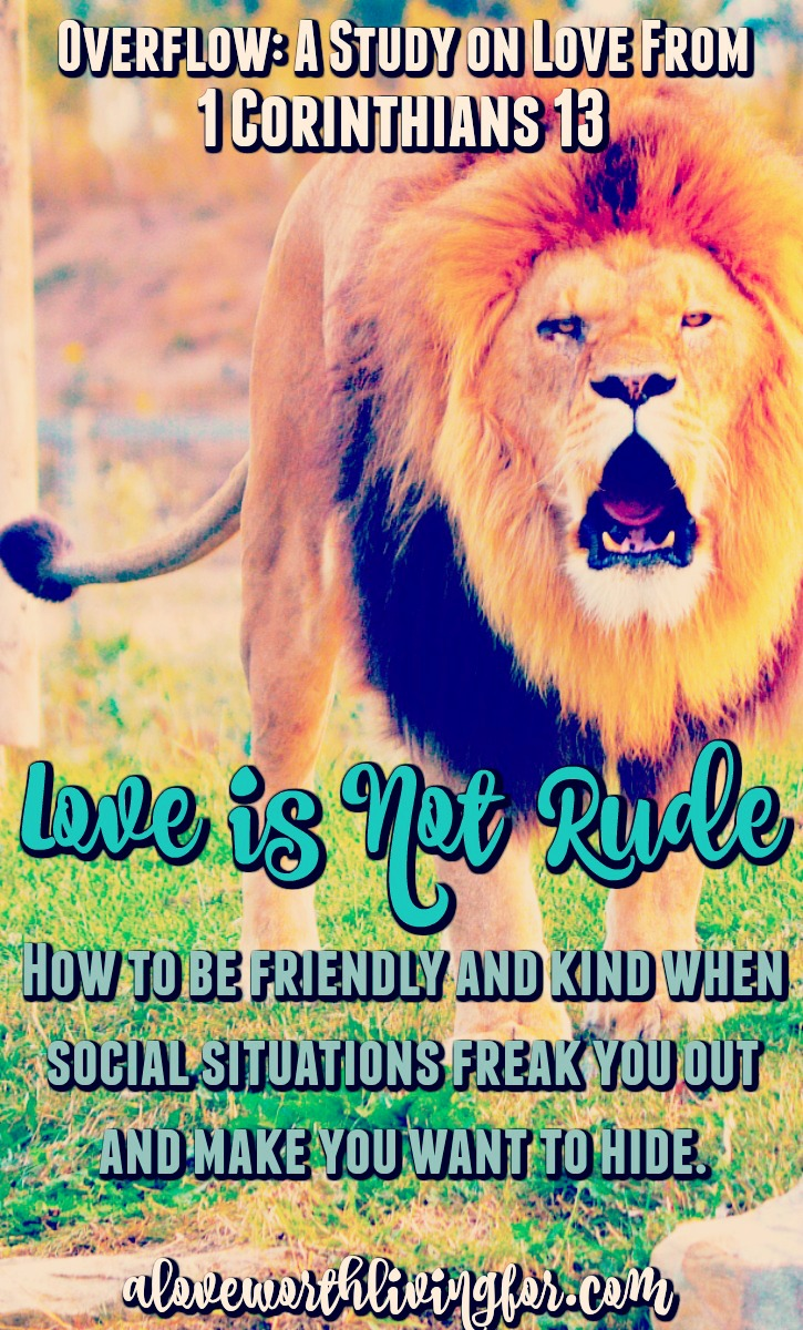 A lot of us never learned how to handle ourselves in new social situations. We can come off as harsh or abrasive unintentionally. Luckily the Bible tells us how to be friendly and how to keep our cool in and kick social anxiety in the face.