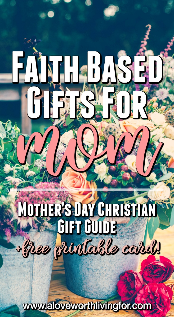 Get mom a gift that matters. These faith based gift ideas are sure to uplift and encourage your mama as well as let her know how loved she is.