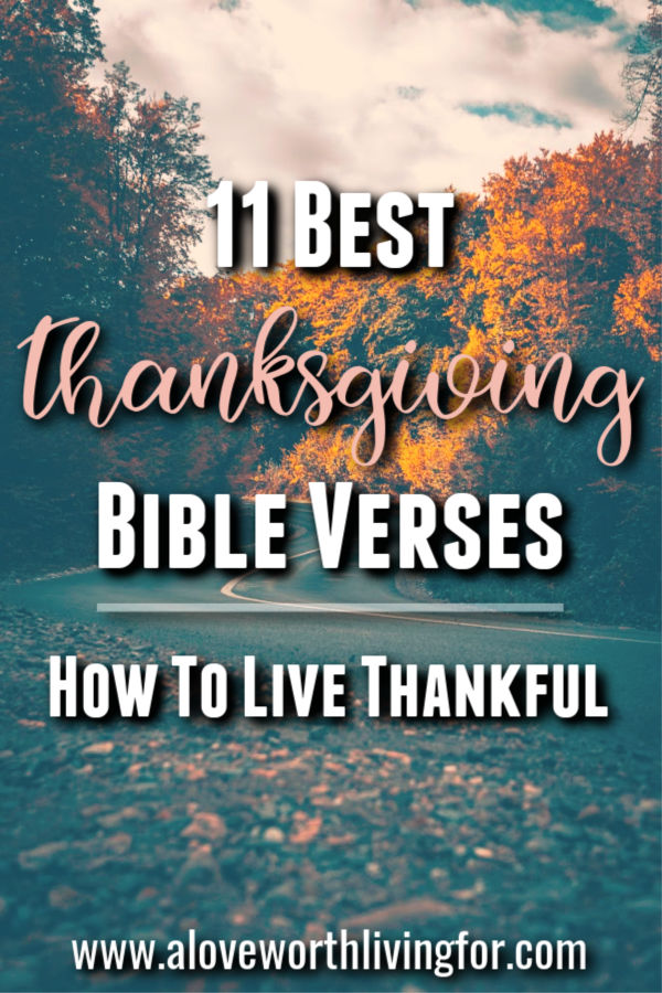 Thanksgiving is a super important spiritual discipline and a major key to living your best life here on earth. Thanksgiving is a perspective shifter and a reminder of the faithfulness of God. It goes so far beyond the holiday. It is an attitude we can cultivate and thrive in year round. Here are 11 of the Best Thanksgiving Bible Verses - How To Live Thankful #gratitude #thanksgiving #biblestudy