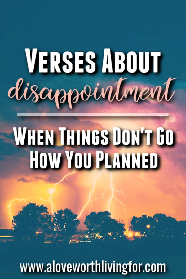 How do we respond when life is full of disappointments? Here are some Bible verses about disappointment - When Things Don't Go How You Hoped. #disappointment #grief