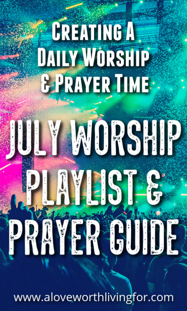 I struggled for years to create a routine where I was spending quality time with the Father on a daily bases. I didn't know how to create a daily devotional time or how to set aside prayer time daily. Check out our June worship playlist and free prayer guide!
